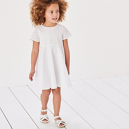 Broderie Swing Dress (1-6yrs)