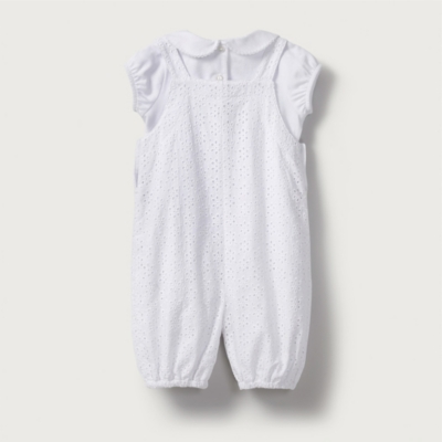 Broderie Dungarees & Bodysuit