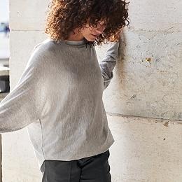 Back Split Batwing Sweater