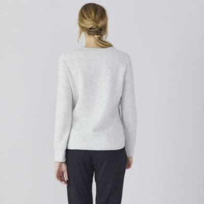 Button Side Cotton Sweatshirt