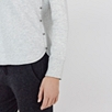 Button Side Cotton Sweatshirt