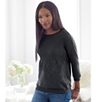 Batwing Rib Slash Neck Sweater