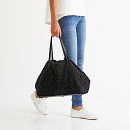 Shearling Shopper Bag