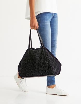 Shearling Shopper Bag