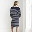Breton Stripe Shift Dress - Navy/White