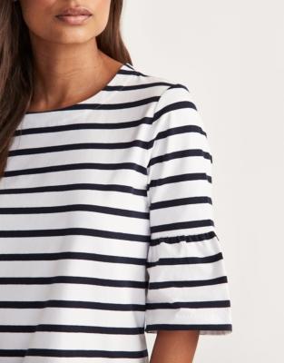 Breton Stripe Flute Sleeve T-Shirt