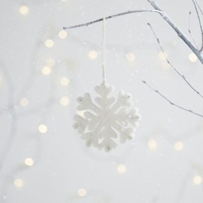 Felt Beaded Snowflake Decoration