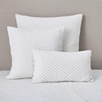 Brittany Cushion Cover Large Square - White Gray