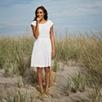 Broderie Dress - White