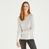 Button Back Sweater - Cloud Marl