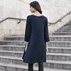 Basic Three-Quarter Sleeve Jersey Tunic