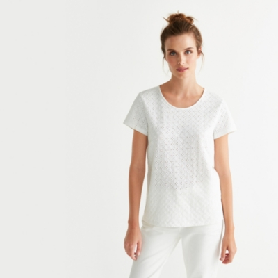 Broderie T-Shirt - White