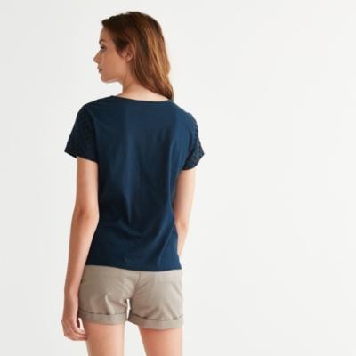 Broderie T-Shirt - Navy