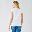 Bobble Trim T-Shirt - White