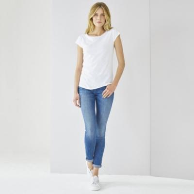 Bobble Trim T-Shirt - White