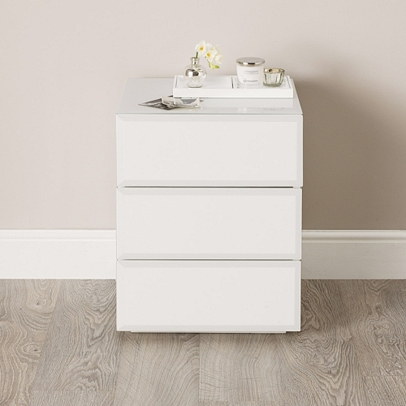 Carlton Glass Bedside Table Bedroom Furniture The White Company Uk