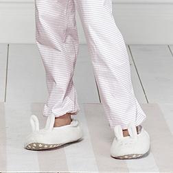 Fluffy Bunny Slippers - White