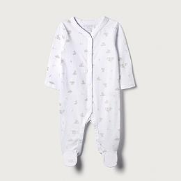 Bunny Print Sleepsuit