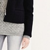 Boiled Wool Square Jacket