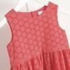 Broderie Folded Waist Dress