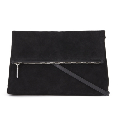 Cross Body Leather And Suede Bag