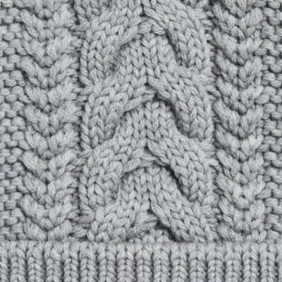 Cable Faux Fur Bobble Hat