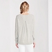 Cashmere Back Pleat Sweater