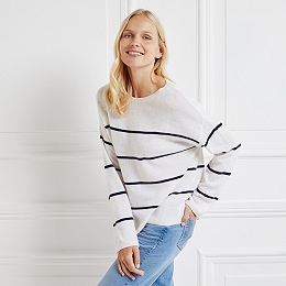Cashmere Breton Stripe Sweater