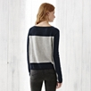 Cashmere Colorblock Sweater - Pale Gray Marl