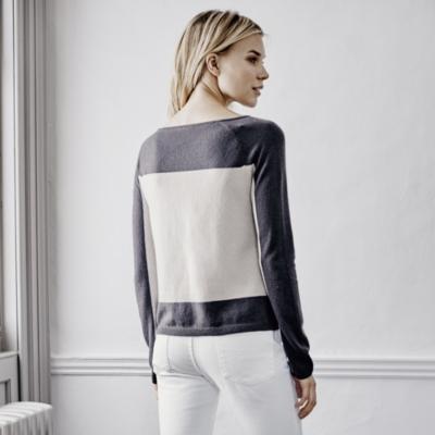 Cashmere Colorblock Sweater - Champagne