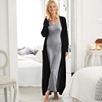 Luxury Long Cashmere Robe - Dark Charcoal Marl
