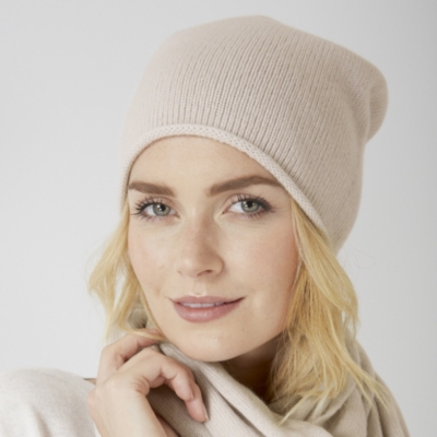 Essential Cashmere Hat - Natural