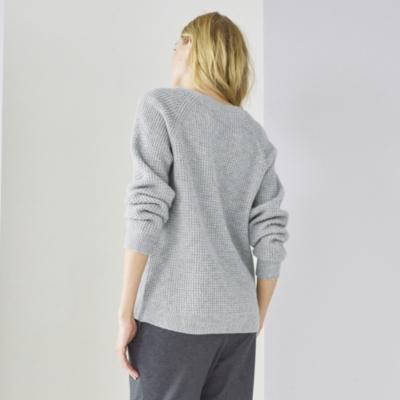 Cashmere Curved Hem Sweatshirt