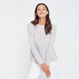 Wool-Cashmere Stitch Sweater
