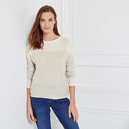 Cashmere Colourblock Textured Sweater
