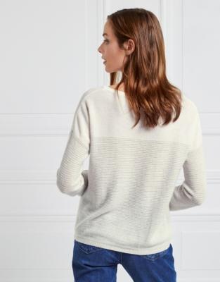 Cashmere Colourblock Textured Sweater