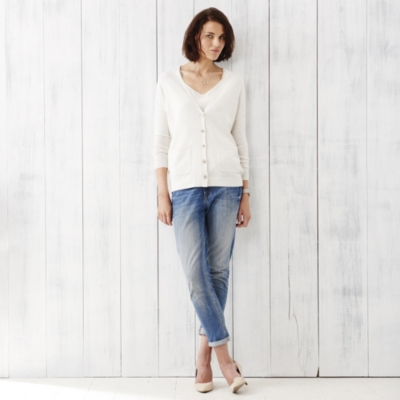 Cashmere Oversized Cardigan  - Cloud Marl