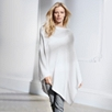 Cashmere Poncho - Cloud Marl