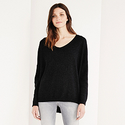Cashmere Pointelle Detail Jumper - Dark