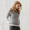 Cashmere Rib Sleeve Sweater