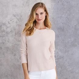 Cashmere Sweatshirt - Petal Pink