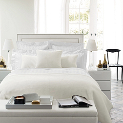 Cavendish Bed - White & Pebble
