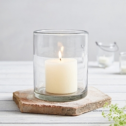 Glass Medium Candle Holder