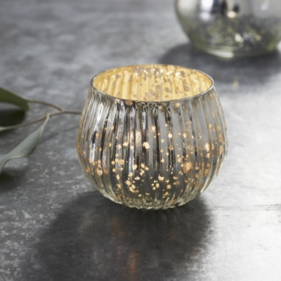 Mercury Dome Tealight Holder - Small - Silver