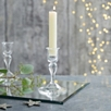 Glass Small Dinner Candle Holder