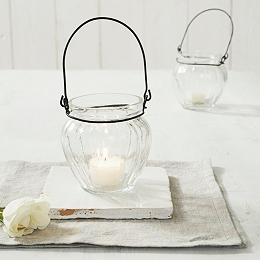 Glass Hanging Tealight Holder