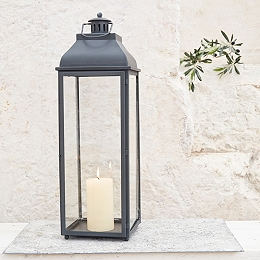 Indulgence Pillar Candle Lantern