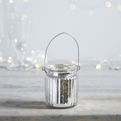 Mercury Jam Jar Tealight Holder