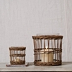 Wicker Lantern Set Of 2 - Small and Large