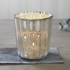 Mercury Fluted Tealight Holder Medium